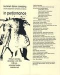 Bucknell Dance Company Fall 1992