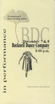 Bucknell Dance Company Fall 2001 Performance