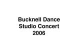 Bucknell Dance Studio Concert 2006